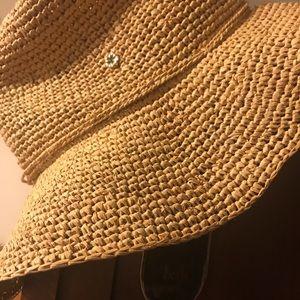 Anthropologie Accessories - Anthropologie Raffia Sun Hat by Flora Bella d856520eb7cb
